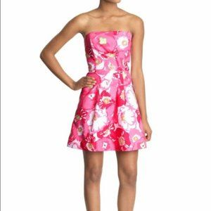 Lilly Pulitzer Pink Cherry Begonias Bloom Dress